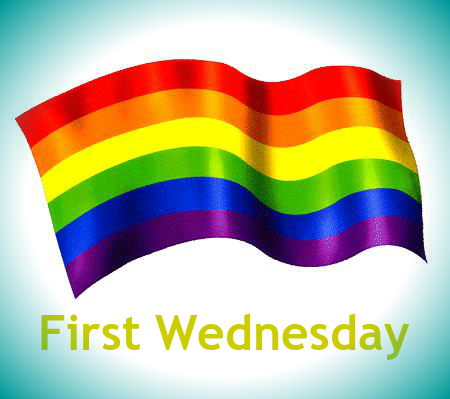 First Wednesday rainbow flag vignette